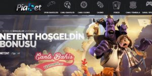Piabet Netent Casino Hoşgeldin Bonusu