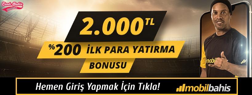 Mobilbahis Hoşgeldin Bonusu 2000 TL