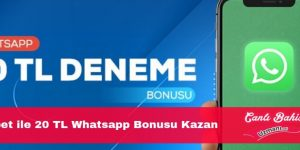 Bahisbet ile 20 TL Whatsapp Bonusu Kazan